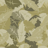 Camouflage leaves — Vector de stock