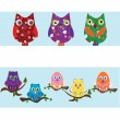 Owl set — Vecteur #44070051