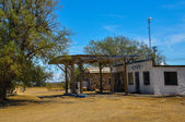 Abandoned Gas Station on Historic Route 66 — Stock Photo