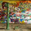 Water Well and a Graffiti Wall — Stock Photo