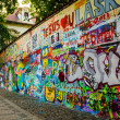 Graffiti Wall in Old Prague — Stock Photo
