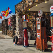 Restored antique gas pumps — Stock Photo