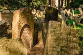 Old Jewish Cemetery in Prague — Стоковое фото