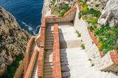 Stairways to Neptune Cave in Capo Caccia — Stock Photo
