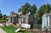 "House Destruction scene for the movie ""War of the Worlds"" — Stock Photo"
