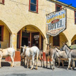 Historic Hotel on Route 66 — Stock Photo
