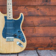 Fender stratocaster wooden electric guitar — Stock Photo #47932497