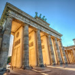 Brandenburg Gate (1788) at sunset, Berlin, Germany. Hdr image — Stock Photo