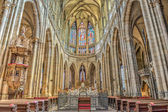 Interior of St. Vitus Cathedral in Prague, Czech Republic — Stock Photo