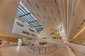 Interior of the new and futuristic Vienna University of Economic — Stock Photo