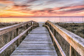 Boardwalk to Sunrise — Stock Photo