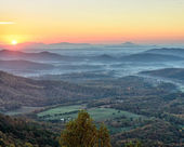 Sunrise from the Blue Ridge Parkway — Stock Photo