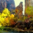 Sunlight on Zion's Autumn — Stock Photo