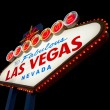 Famous Las Vegas Welcome Sign with black background — Stock Photo #30162755