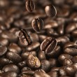 Coffee Beans drop on coffee bean floor — Stock Photo
