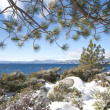 Lake Tahoe at winter time — Foto Stock
