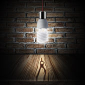 Light bulb turn on — Stock Photo