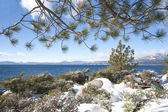 Lake Tahoe at winter time — Stock Photo