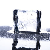 Ice Cube with water droplets — Stock Photo