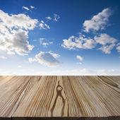 Wood walkway — Stock Photo