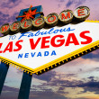 Famous Las Vegas Welcome Sign at sunset — Stock Photo #30170645
