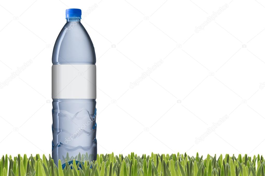 Water bottle with blank label — Stock Photo © somchaij #30171881