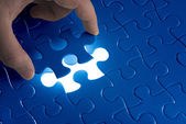 Missing jigsaw puzzle piece — Stock Photo