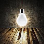 Lampa i tomma rum — Stockfoto