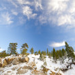 Snow on mountain — Stock Photo #31418417
