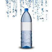 Water bottle with water drops — Stock Photo