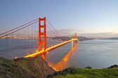 Golden Gate at twilight hour — Stock Photo