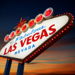 Welcome to Las Vegas Sign neon light — Stock Photo
