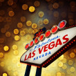 Welcome To Las Vegas neon sign at night — Stock Photo