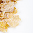 Crispy corn flakes heaped — Stock Photo