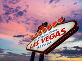 Welcome To Las Vegas neon sign — Stock Photo