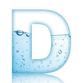 Water D Letter — Stock Photo