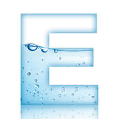 Water E Letter — Stock Photo
