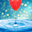 Water drop from Strawberry — Foto de Stock