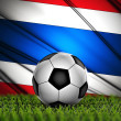Soccer ball against Thailandl Flag — Stockfoto
