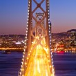 Bay Bridge at sunset and twilight time — Stock Photo