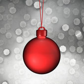 Christmas ball hanging from the Christmas tree — Stock fotografie