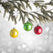 Christmas Ornament and Tree — Stock Photo