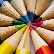 Different color pencils — Foto Stock
