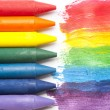 Colorful crayon — Stockfoto