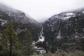 雪の丘の風景 — ストック写真