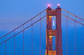 Golden Gate bridge at twilight — Stock Photo