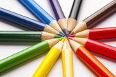 Different color pencils — Stock Photo