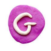 Letra g — Foto de Stock