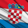 Crotia Flag — Stock Photo