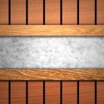 Cement floor between wood — Stock Photo #36462635